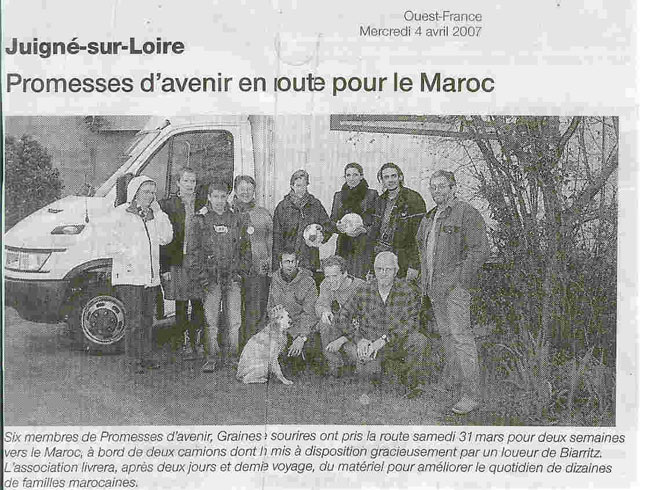 Ouest France  avril 2007