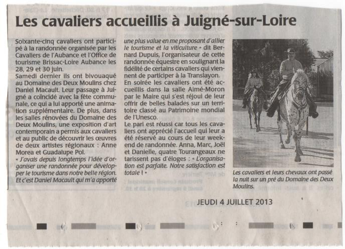 article  cavalier juin 2013