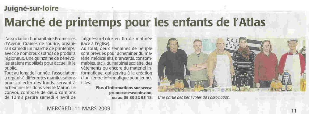 article du 11 mars 2009