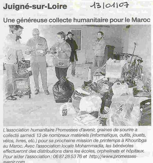 article du 13 janvier 2007