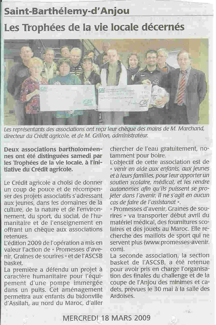 article du 18 mars 2009