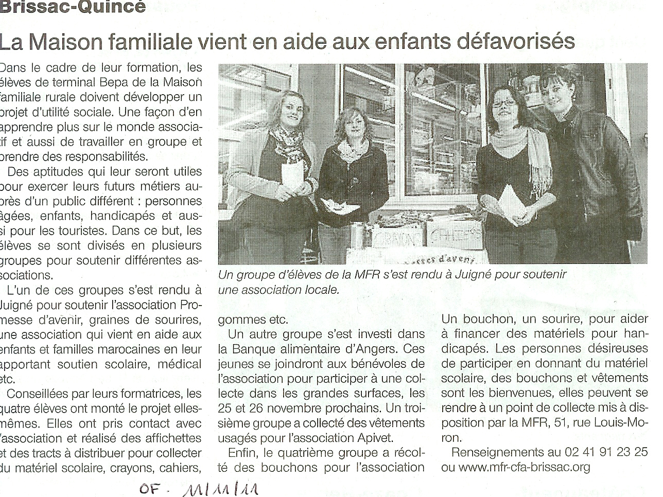article novembre 2011