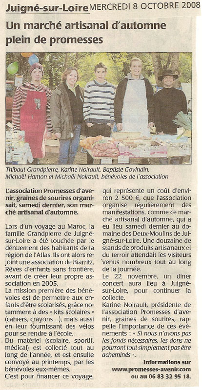 article octobre 2008
