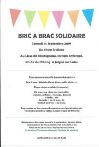 BRIC A BRAC SOLIDAIRE SEPT 2019
