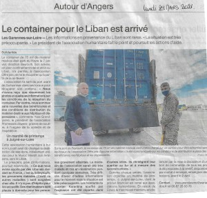 articles ouest france arrivee container beyrouth